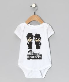 Look at this #zulilyfind! White 'The Blues Brothers' Bodysuit - Infant by American Classics #zulilyfinds