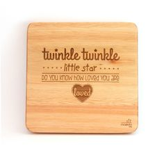 """""""Twinkle, twinkle little star. Do you know how loved you are"""". This is every child's favourite song but slightly amended to make them feel very special. Wooden Wall Art, Wooden Walls, Christmas 2015, Christmas Goodies, African Children, Twinkle Twinkle Little Star, Wall Art Designs, Nursery Art, Bamboo Cutting Board"""