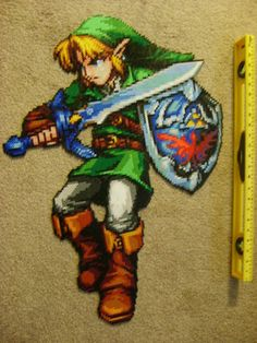 This is made out of perler beads, which, if you know what those are, makes this amazing. Its my goal to make a clock out of these beads featuring 90s video games like Mario, Zelda, and Pokemon!