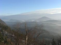 Winterlicher Blick hinein nach Böhmen