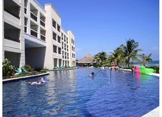 Secrets Silversands Riviera Cancun: side view of infinity pool and we have a swim out room to it!!! Yay