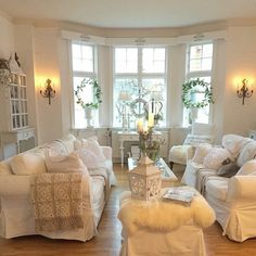 Farmhouse and rustic styled rooms are classic and always trendy. Home decor for your living room or family rooms. chippy, and vintage items can be added and you cant go wrong. Shabby Chic Living Room Furniture, Shabby Chic Kitchen Decor, Shabby Chic Interiors, Shabby Chic Homes, Living Room Decor, Sweet Home, White Rooms, Home And Deco, White Decor