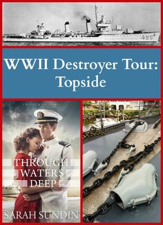 While researching her latest WWII novel, Through Waters Deep, Sarah Sundin toured WWII-era destroyers - and she's sharing pictures! Part 1 - topside tour. Plus, another chance to win the vintage Through Waters Deep apron! Giveaway runs through August 5, 2015.