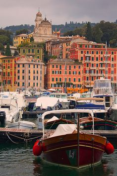 The beautiful port town of Santa Margherita Ligure, Liguria, Italy