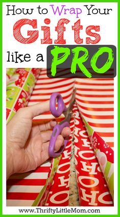 How to Wrap Gifts Like a Pro and avoid busting your budget. See picture tutorials, tips and tricks for making your gifts look amazing this year! - DIY and Crafts Diy Christmas Balls, All Things Christmas, Christmas Holidays, Christmas Decorations, Christmas Ideas, Holiday Crafts, Holiday Fun, Present Wrapping, Festa Party