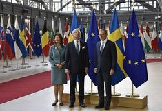 King Carl Gustaf and Queen Silvia visit the EU institutions in Brussels Queen Of Sweden, Visit Sweden, Queen Silvia, Presidents, Google Translate, Brussels, Windsor, Royals, House