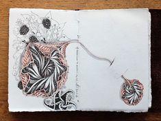 New #Zentangle tangle ~ Aquafleur ~ from Rick Roberts and Maria Thomas