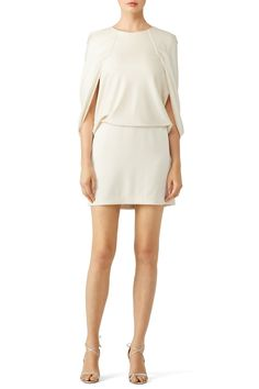 Rent White Cape Blouson by Halston Heritage for $55 only at Rent the Runway.