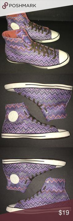 Converse All Stars 8.5 Zig Zag Sparkle NWOB Women's size 8.5. From Nordstrom. Bought but never Worn No Box Multicolor ZigZag Print with a Hint of Sparkle ! Thank You! Converse Shoes Sneakers