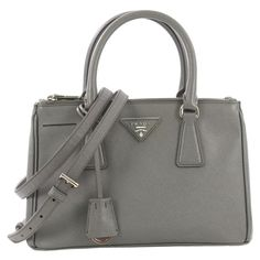 a91a7dae5e18 Prada Tote Bag - Galleria Double Zip Lux Tote Saffiano Leather Small Leather
