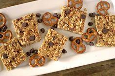5 Ingredient No Bake Peanut Butter Pretzel Granola Bars {Vegan, GF + DF} :http://athleticavocado.com/2016/03/20/5-ingredient-no-bake-peanut-butter-pretzel-granola-bars/?utm_medium=yummly