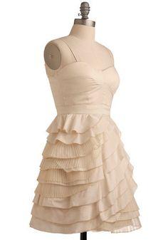 Neutral Wedding Baklava Beauty Dress   Mod Retro Vintage Printed Dresses   ModCloth.com