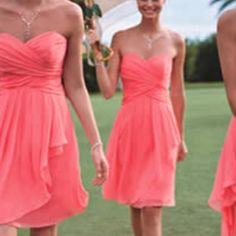 Cute bridesmaid dresses, gorgeous color