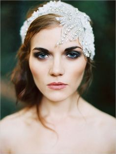 Shine a little brighter with this #wedding #veil alternative! See more #inspiration from #PrestonBailey and his #BrideIdeas team at www.prestonbailey....
