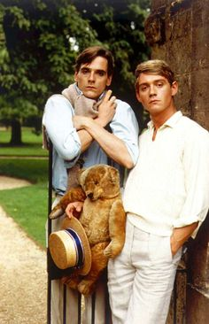 Brideshead Revisited by Evelyn Waugh. Charles Ryder, Aloysius the teddy bear and Lord Sebastian Flyte.