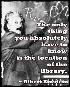 Albert Einstein Library Quote