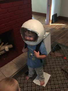 DIY astronauts helmet and oxygen pack