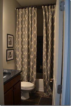 Curtains / shower curtain