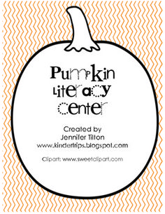Pumpkin literacy center = identifying the beginning sound/letter of pictures. (free!!)