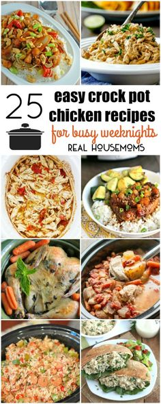 These 25 Easy Crock Pot Chicken Recipes