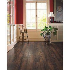 """Mohawk Flooring Rugged Vision 8"""" x 54"""" x 11.93mm Chestnut Laminate in Dark Brown"""