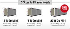 Storage Container Sizes