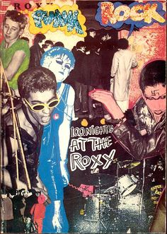 Michael Dempsey, Punk Rock: 100 Nights At The Roxy, 1978 Punk Art, Punk Poster, 70s Punk, Riot Grrrl, Band Posters, Rock Posters, Concert Posters, Looks Cool, Punk Rock