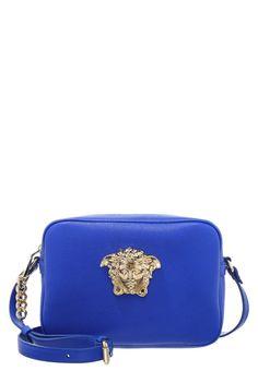 Versace PALAZZO Torebka mała chabrowa roya blue/oro chiaro