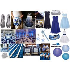 Blue, Star themed Wedding, created by highglosswed on Polyvore