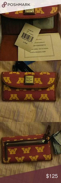 NEW!!!! DOONEY & BOURKE The Minnesota Golden Gophers football Officially Collegiate Product Dooney & Bourke Bags Wallets