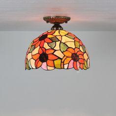 Sunflower Tiffany Lamp  12S2-1C1