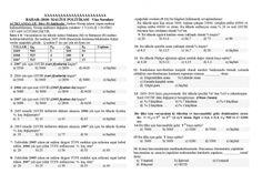 Maliye Politikası Dersi Vize Soruları