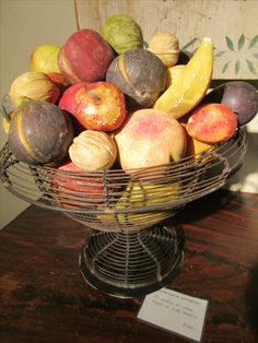 . Fruit Love, Colonial Decorating, Stone Fruit, Display Case, Fruits And Vegetables, Marble, Carving, Country, Antiques