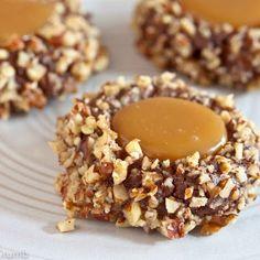 Chocolate turtle cookies @keyingredient #caramel #chocolate
