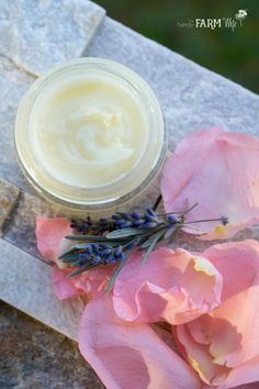 This creamy lavender rose balm recipe contains calendula to help heal chapped sore skin.