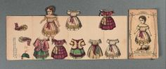 """Paper Dolls, 1790-1940 - The Collection of Shirley Fischer: 55 American Envelope Paper Doll """"Good Two-Shoes"""" by R.A. Hobbs 1850s"""