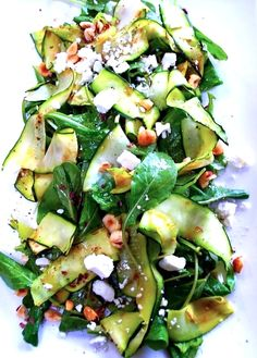 ViVa's Zucchini Salad with Goat Cheese and Pine Nuts