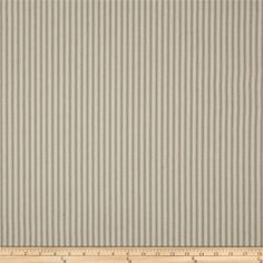 """44"""" Ticking Stripe Khaki from @fabricdotcom  This versatile, woven cotton twill medium weight fabric is perfect for window accents (draperies, valances, curtains and swags), toss pillows, bed skirts, duvet covers, slipcovers and more! Get creative with tote bags and aprons, too! Colors include blue and ivory. *Prewash to allow for shrinkage."""