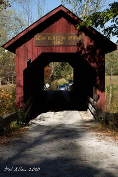 The Bean Blossom Bridge 1880. Brown County, Indiana