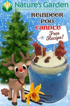 Free Reindeer Poo Candle Recipe by Natures Garden.