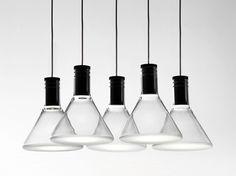 LED Pyrex® pendant lamp MULTISPOT POLAIR Multispot Collection by Fabbian | design Flynn Talbot