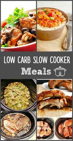 Low Carb Slow Cooker Meals, low carb and gluten free