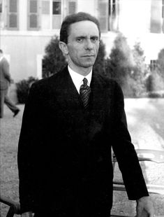 Eyes of Hate: Joseph Goebbels Scowling at Photographer Alfred Eisenstaedt After Finding Out He's Jewish, 1933