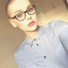 Buzz cut + big glasses + septum piercing = the trifecta!