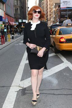 Christina Hendricks Street Style