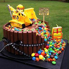 PAW PATROL 'RUBBLE' BIRTHDAY CAKE   Charlie's 4th Birthday C…   Flickr