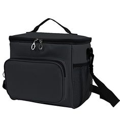 Adult Lunch Bag Insulated Lunch Box Large Cooler Tote Bag for Men & Women, Double Deck Heat-resistant Cooler with Adjustable Shoulder Handbag(black). For product & price info go to:  https://all4hiking.com/products/adult-lunch-bag-insulated-lunch-box-large-cooler-tote-bag-for-men-women-double-deck-heat-resistant-cooler-with-adjustable-shoulder-handbag%ef%bc%88black%ef%bc%89/