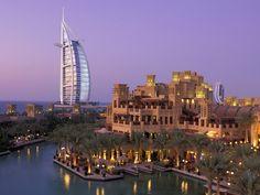 Burj Al Arab overlooking my favorite mall the Madinat Jumeirah
