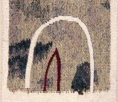 the deepest cut ---- woven tapestry 14 x 12.5 cm 2000 Copyright © Carol Dunbar