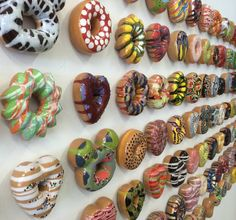 'Doughnut Rush' Ceramic Sculptures by Jae Kim Yong - Lyons Wier Gallery via Art People Gallery.